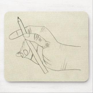 Crosshatched Hand mousepad