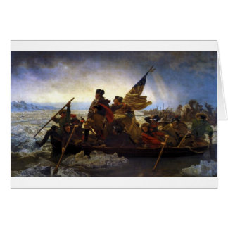 crossing, christmas, george washington, america card