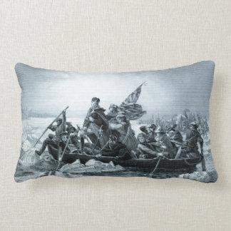 Crossing Delaware & Declar. of Independence Lumbar Pillow