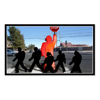 Crossing Guard w/Kids on the Street Business Card