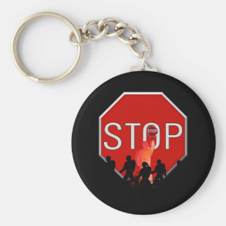 Crossing Guard w/Kids & Stop Sign Keychain