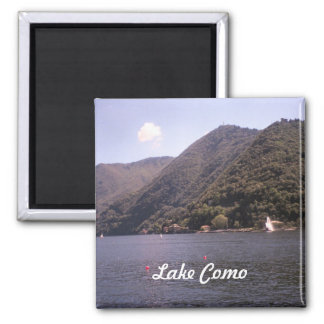 Crossing Lake Como Square Magnet