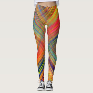 crossing lines leggings