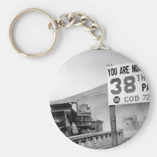 Crossing the 38th parallel. United _War Image Basic Round Button Keychain