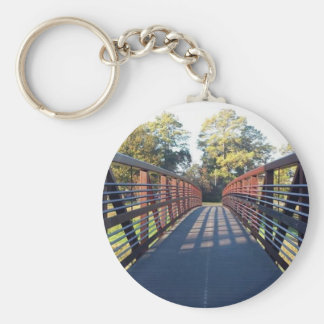 Crossing the Bridge Photo Keychain