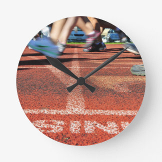 Crossing the Finish Line - Accomplishment or Runne Wallclock