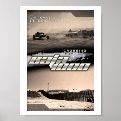 crossing the line baja 1000 poster
