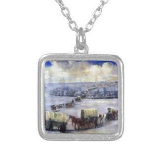 Crossing_the_Mississippi_on_the_Ice Silver Plated Necklace