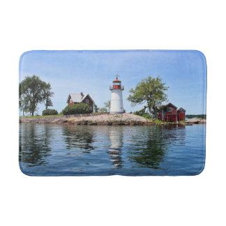 Crossover Island Lighthouse, New York Bath Mat