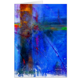 Crossroads - abstract digital painting card