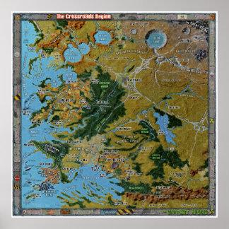 Crossroads Region Gazetteer Map Poster