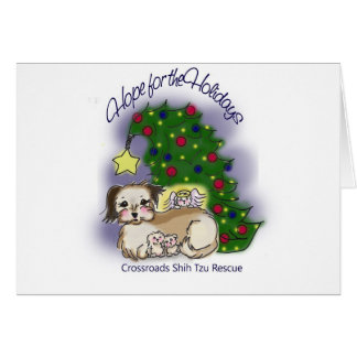 Crossroads Shih Tzu Rescue Hope For the Holidays Card