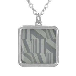 Crosswalk Collage Silver Plated Necklace