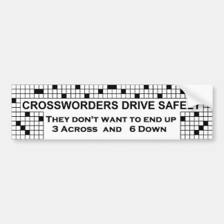 Crossword Bumper Sticker