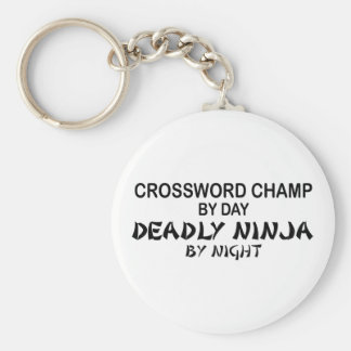 Crossword Deadly Ninja by Night Basic Round Button Keychain