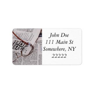 Crossword Genius Personalized Address Labels