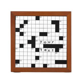 Crossword Grid Desk Organizer