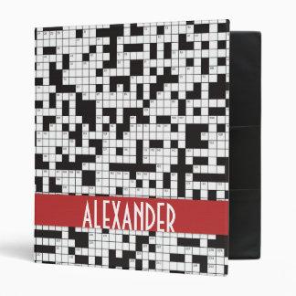 Crossword Puzzle Binder