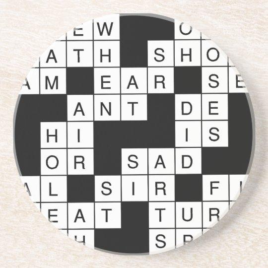 Crossword Puzzle Coaster