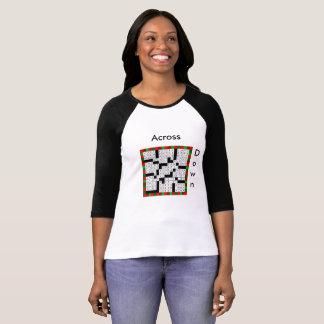 Crossword Puzzle Design on Women's T-Shirt