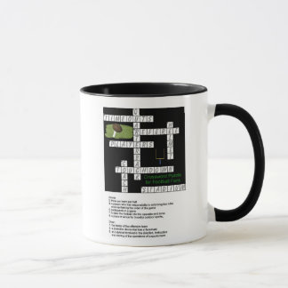 Crossword Puzzle for Football Fans Mug