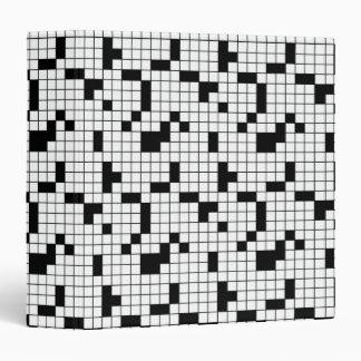 Crossword Puzzle Grid Notebook 3 Ring Binder