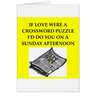 CROSSWORD puzzle lover Card