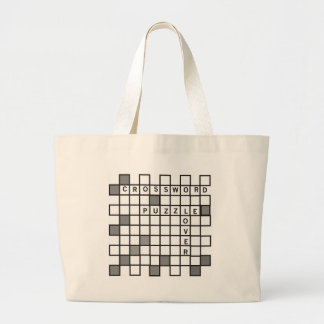 Crossword Puzzle Lover Large Tote Bag