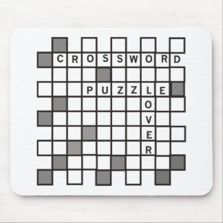 Crossword Puzzle Lover Mouse Pad