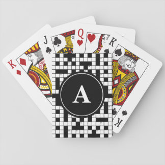 Crossword Puzzle Monogram Playing Cards
