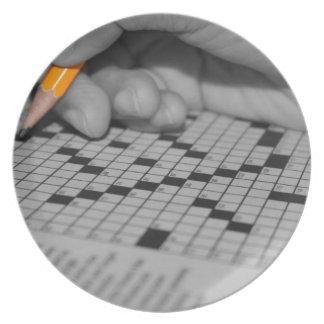 Crossword Puzzle Plate
