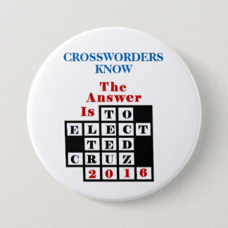 Crossword Puzzlers for Cruz 3 Inch Round Button