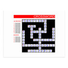 Crossword Puzzles Can Be Frustrating Postcard