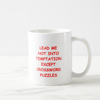crossword puzzles coffee mug