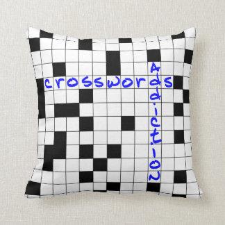 Crosswords addiction throw pillow
