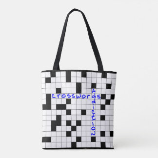 Crosswords addiction tote bag