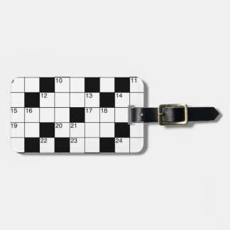 Crosswords Luggage Tag