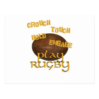 Crouch, Touch, Hold, Engage. . .Play Rugby Postcard