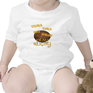 Crouch, Touch, Hold, Engage. . .Play Rugby Baby Bodysuit