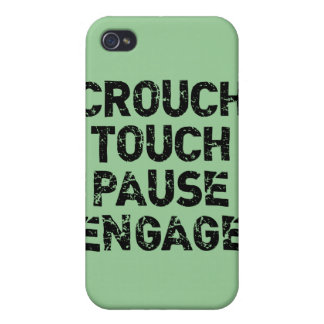 Crouch Touch Pause Engage Rugby Tees iPhone 4 Case