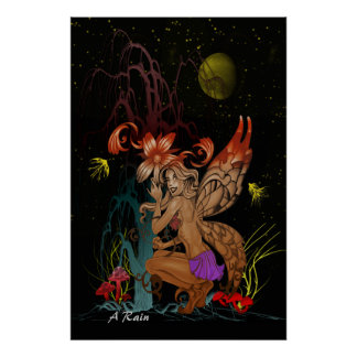Crouching Fairy Poster