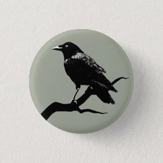 Crow 1 Inch Round Button