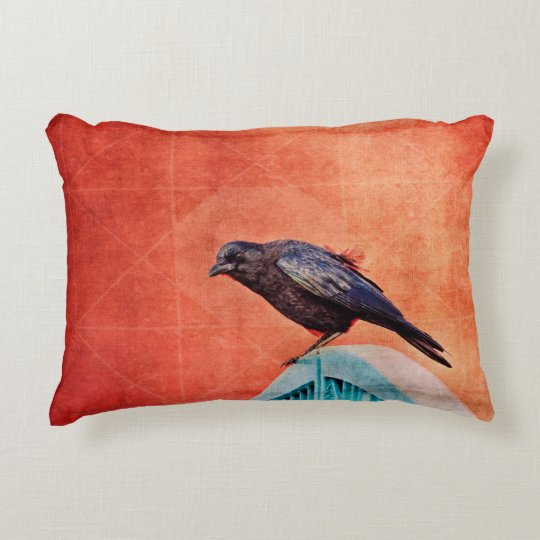 crow accent pillow