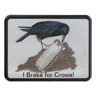 Crow and Harmonica Trailer Hitch Cover