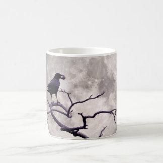 Crow And Moon Raven Fantasy Gothic Night Coffee Mug