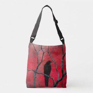 Crow And The Branches Crossbody Bag