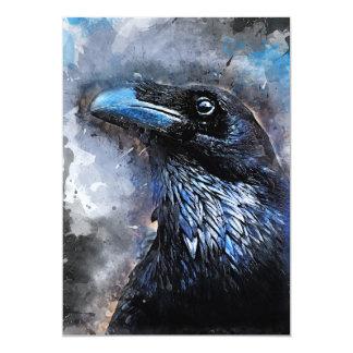 Crow art #crow #bird #animals card