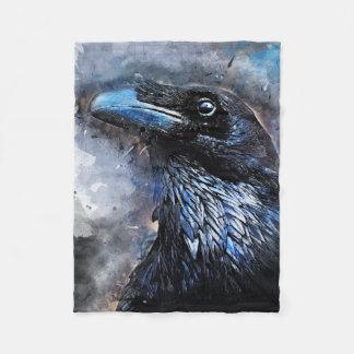 Crow art #crow #bird #animals fleece blanket