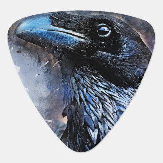 Crow art #crow #bird #animals guitar pick