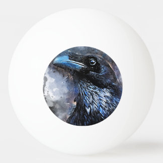 Crow art #crow #bird #animals ping pong ball